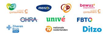 diverse logo's van zorgverzekeraars